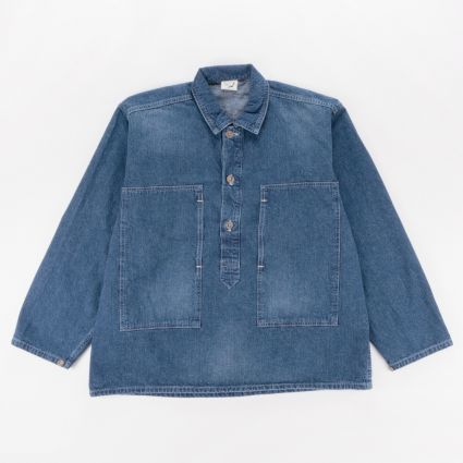 orSlow PW Pullover Washed Shirt Denim Used1
