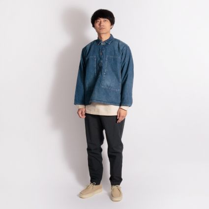 orSlow PW Pullover Washed Shirt Denim Used
