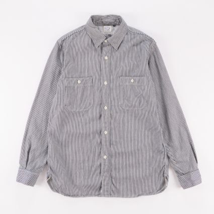 orSlow Work Shirt Hickory Stripe