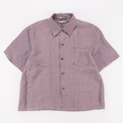 Our Legacy Box Shortsleeve Shirt Linen Stripe