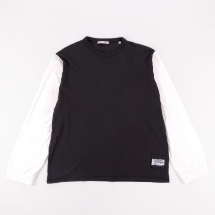 Our Legacy Cuffed Longsleeve T-Shirt Black/White