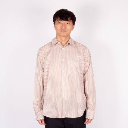 Our Legacy Policy Shirt Orange Stripe Voile