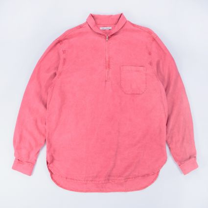 Our Legacy Shawl Zip Shirt Clear Red Silky Wash