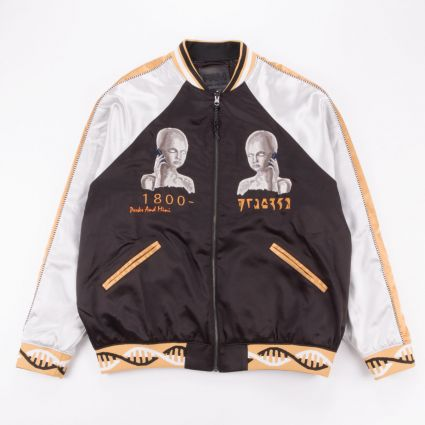 P.A.M. Team Work Reversible Satin Jacket Black Shadow1