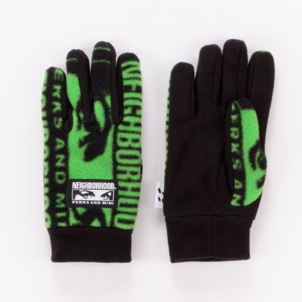 P.A.M. x Neighborhood Fleece Gloves Black1