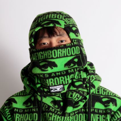 P.A.M. x Neighborhood Fleece Mask Black