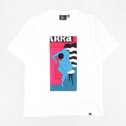 Parra Bar Stool T-Shirt White1