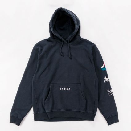 Parra Paper Dog Systems Hoodie Navy Blue1