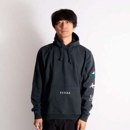 Parra Paper Dog Systems Hoodie Navy Blue