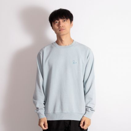 Parra Signature Logo Crewneck Sweatshirt Dusty Blue