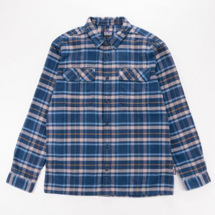Patagonia L/S Fjord Flannel Shirt Independence New Navy1