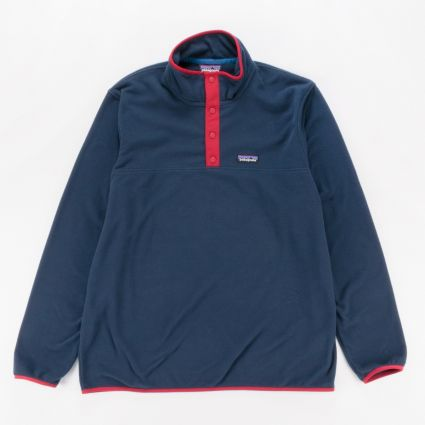 Patagonia Micro D Snap-T Pullover New Navy/Classic Red1