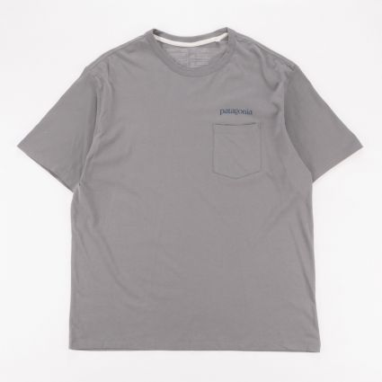 Patagonia Road To Regenerative Pocket T-Shirt Noble Grey1