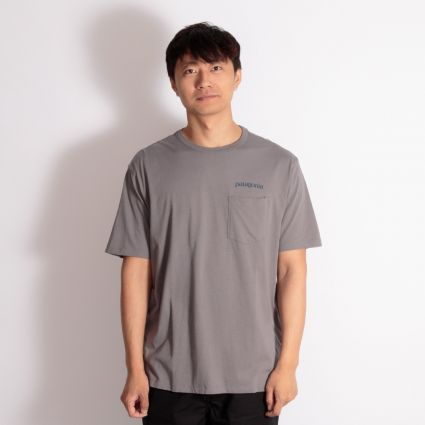 Patagonia Road To Regenerative Pocket T-Shirt Noble Grey