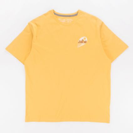 Patagonia Tube View Organic T-Shirt Mountain Yellow1