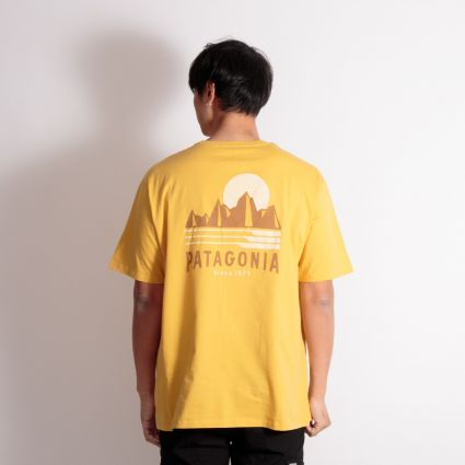 Patagonia Tube View Organic T-Shirt Mountain Yellow