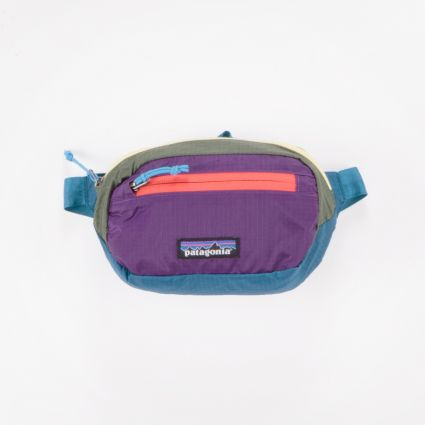 Patagonia Ultralight Black Hole Mini Hip Pack Patchwork: Steller Blue