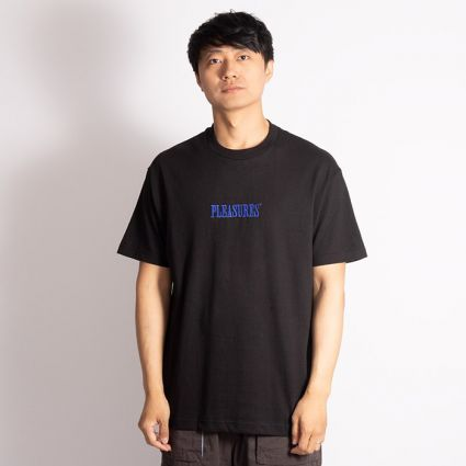 Pleasures Core Embroidered T-Shirt Black