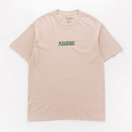 Pleasures Core Embroidered T-Shirt Sand1