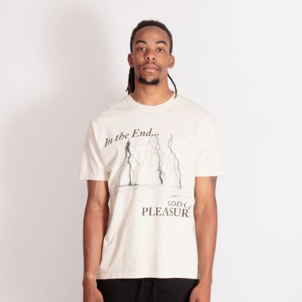 Pleasures End Times Pigment Dye T-Shirt Washed Natural