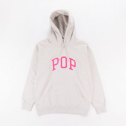 Pop Trading Arch Hoodie Off White Heather1