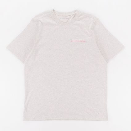 Pop Trading Logo T-Shirt Off White Heather/Pink1