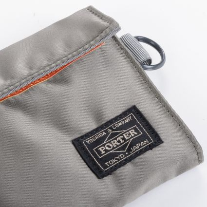 Porter by Yoshida & Co Tanker Wallet Long Silver Grey