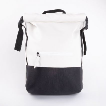 Rains Buckle Rolltop Bag Off White1