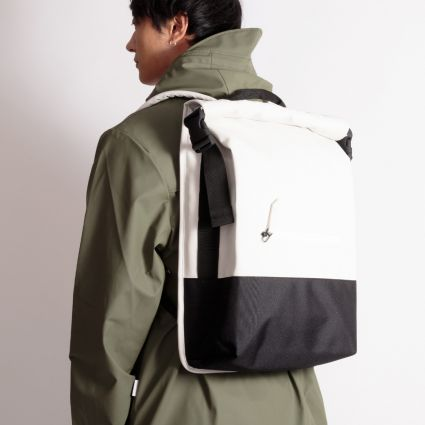 RAINS Buckle Rolltop Bag Off White