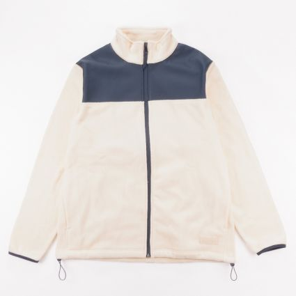 RAINS Fleece Zip Puller Off White1