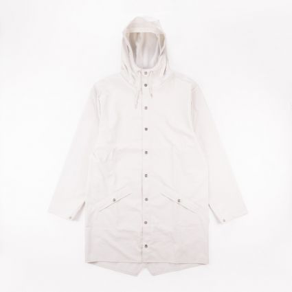 RAINS Long Jacket Off White1