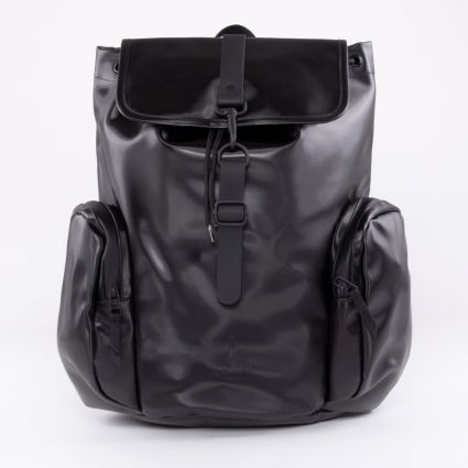 RAINS Oversize Rucksack Shiny Black
