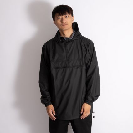 RAINS Ultralight Zip Anorak Black