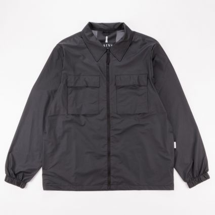 RAINS Ultralight Zip Shirt Black1