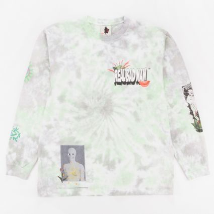 Real Bad Man From Outer Space Long Sleeve T-Shirt Aqua/Yellow TD1