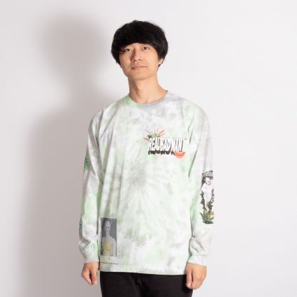 Real Bad Man From Outer Space Long Sleeve T-Shirt Aqua/Yellow TD