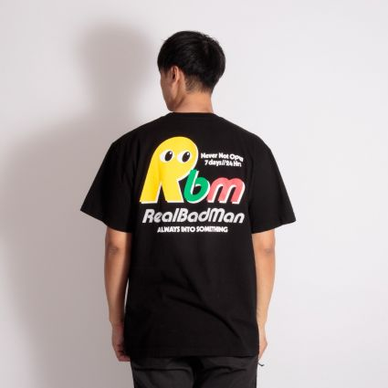 Real Bad Man Never Not Open T-Shirt Black