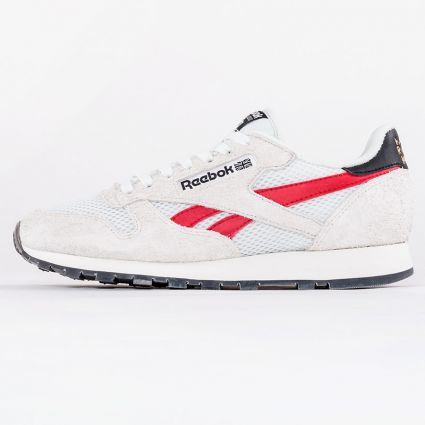 Reebok CL Leather Human Rights Now Pure Grey 1/Vector Red/Gold Metallic1