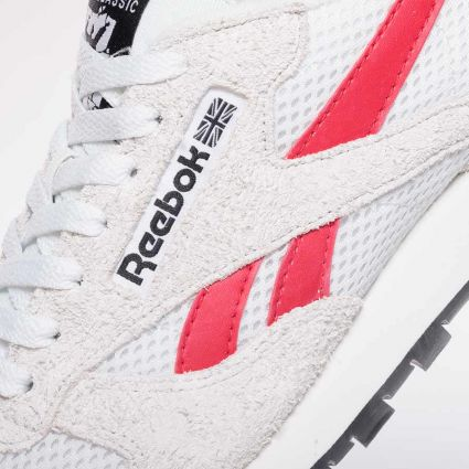 Reebok CL Leather Human Rights Now Pure Grey 1/Vector Red/Gold Metallic