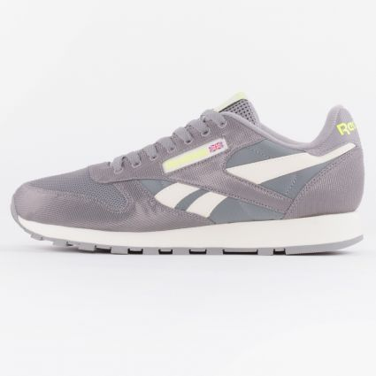 Reebok CL Leather Spacer Grey/Classic White/Yellow Flare1
