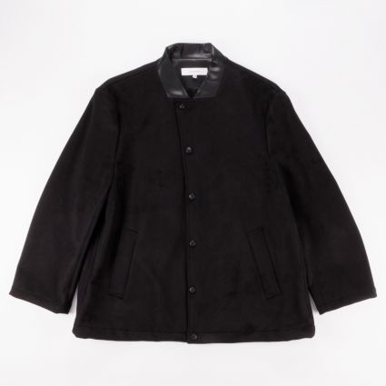 Sasquatchfabrix. Fake Suede Coach Jacket Black1