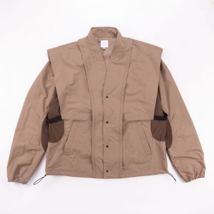 Sasquatchfabrix ORIENTAL SHOULDER NYLON JACKET LIGHT BROWN1