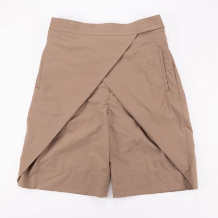Sasquatchfabrix WRAP NYLON SHORTS LIGHT BROWN1