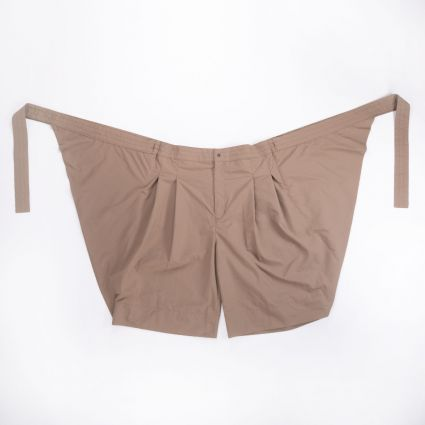 Sasquatchfabrix. Wrap Nylon Shorts Light Brown