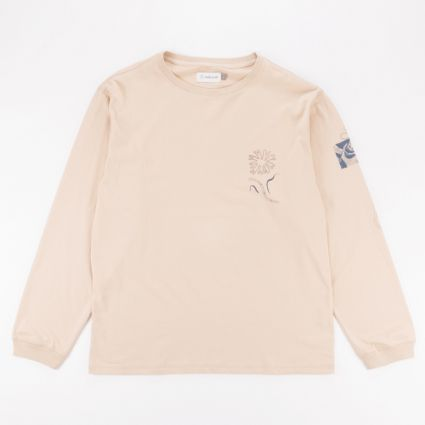 Satta Togetherness Long Sleeve T-Shirt Stone1