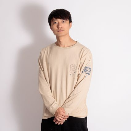 Satta Togetherness Long Sleeve T-Shirt Stone