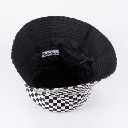 SCUM Checkerboard Bucket Hat Black/White