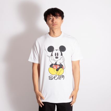 SCUM Micky Mouse Smokes T-Shirt White