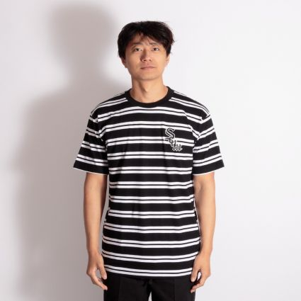 SCUM Striped Up T-Shirt Black