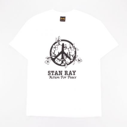 Stan Ray Action 4 Peace T-Shirt White1
